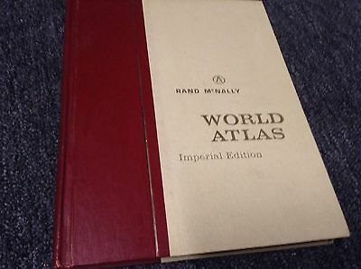 Vintage Rand McNally World Atlas Imperial Edition Hardcover Book