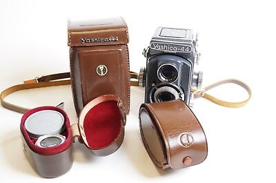 Yashica 44 TLR Camera with Lenses