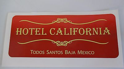 Hotel California Sticker Decal Baja Mexico luggage suitcase label surf surfboard
