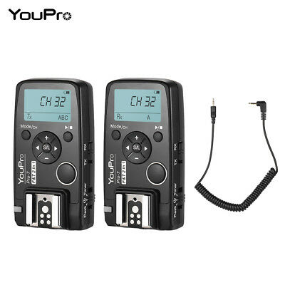 YouPro Pro-7 Wireless Shutter Timer Flash Trigger with E3 2.5mm PC Sync K5F4