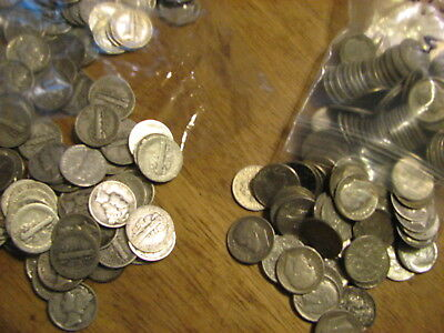 500 SILVER DIMES ,365 MERCURY and 135 ROOSEVELT