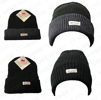 73b89a11a3c Mens Official 3M Thinsulate Knitted Hat Thermal Winter Warm Wool Chunky  Beanie