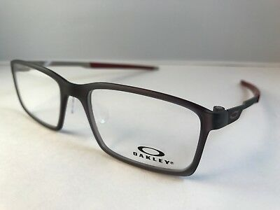 cbdb3b4777 New Authentic OAKLEY Eyeglasses OX 8097 0254 STEEL LINE S matte black ink w  case