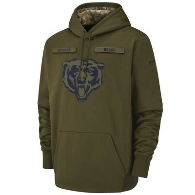 Nike CHICAGO BEARS 2018 Mens NFL Salute to Service Limited Therma STS Hoodie New