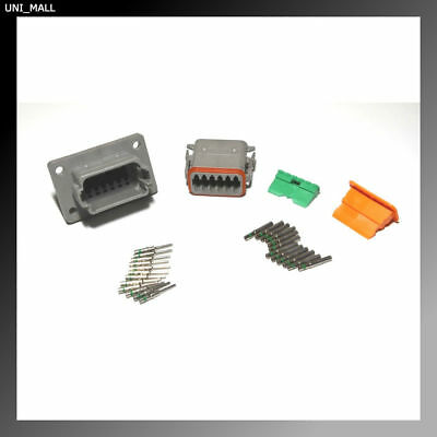 Deutsch DT Series 12-Pin Flange Connector Kit 14-16AWG Solid Contacts, USA