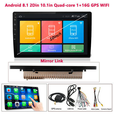 Android 8.1 10.1in 2DIN Auto Quad-Core Stereo Radio Player GPS Bluetooth Wifi
