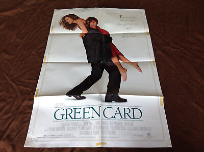 1990 Green Card Original Movie House Full Sheet Poster