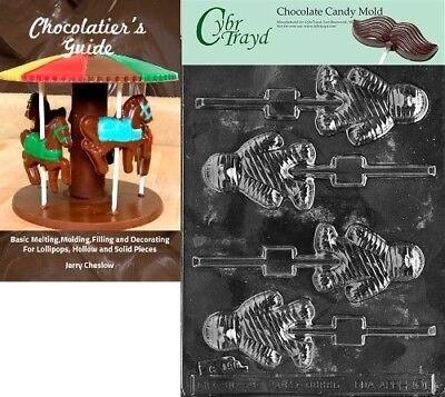 """Cybrtrayd """"Mummy Lolly"""" Halloween Chocolate Candy Mould with Chocolatier's Guide"""