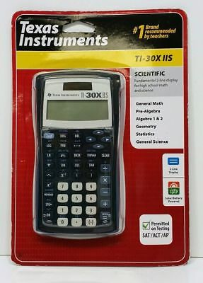 Texas Instruments Ti-30x IIS Scientific Solar Calculator Black 2018 Two Lines