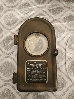 Rare Vintage Lux Clock Co. Electrical Time Switch Model 89