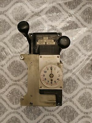 Calculagraph Model 33 Vintage Time Punch Clock 20 Volts 60 Cycles