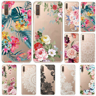 For Samsung Galaxy A9 A8 A7 2018 Slim Soft Silicone Clear Painted TPU Case Cover