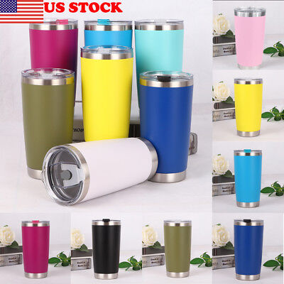 20 oz Stainless Steel Vacuum Tumbler Insulated Travel Coffee Mug Cup Flask