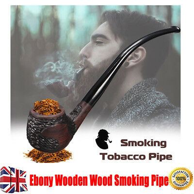 Ebony Wooden Wood Smoking Pipe Retro Vintage High-ended Tobacco Cigarette Cool