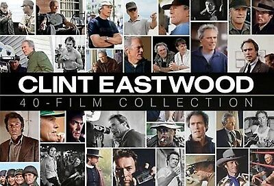 CLINT EASTWOOD 40 Film Collection NEW 24-DISC 38 FILMS + 2 DOCUMENTARIES DVD SET