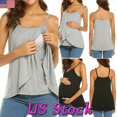 Maternity Women Clothes Pregnant Nursing Tops Blouse Breastfeeding Loose T-Shirt