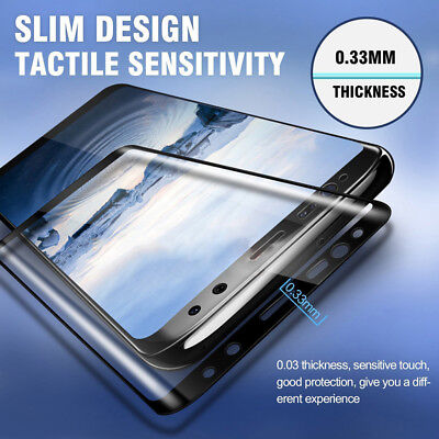 For Samsung Galaxy A9 A7 2018 J4 J6 Plus 5D Tempered Glass Screen Protector Film