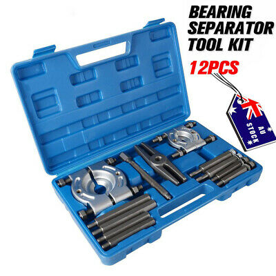 12PCS Bearing Splitter Gear Puller Fly Wheel Separator Set Tool Kits With Box