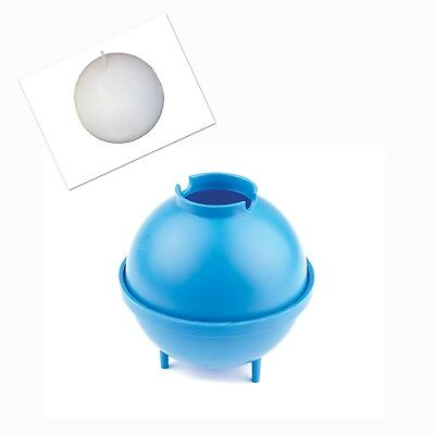 """Linic Sphere Round Candle Making Mould 3"""" 75mm dia UK Made S7261"""