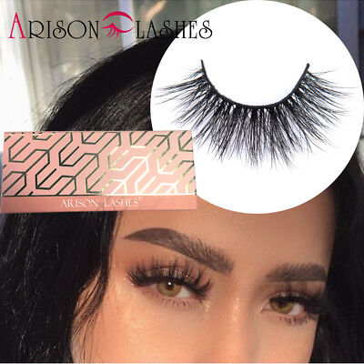 27c9d0a7f64 Arison 3D Mink False Eyelashes Extension 100% Reusable Hand Made Fake Lashes  USA