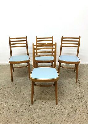 50s 60s Vintage Retro Mid Century set of beech kitchen chairs - for restoration