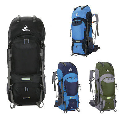 fa0fd726f5be 60L Outdoor Camping Travel Rucksack Backpack Climbing Hiking Bag Day Packs  New