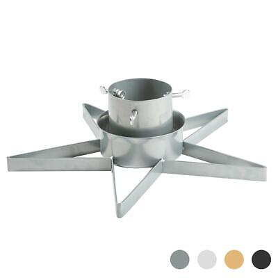 Star Shaped Metal Christmas Tree Stand up to 2.8m Silver Urban Industrial Décor