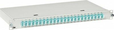 "3M Telecommunications LWL-Patchpanel 482,6mm 19"" 24xLC-D MM,OM3/OM4 ..."
