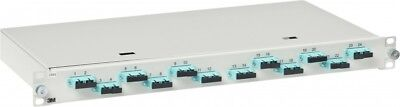 "3M Telecommunications LWL-Patchpanel 482,6mm 19"" 12xSC-D MM,OM3/OM4 ..."