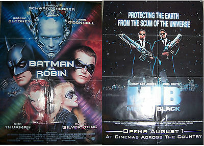 1997 Double Sided Batman & Robin AND Men in Black MIB Film Movie Poster