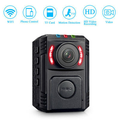 Police Security Body Worn Camera HD 1080P Night Vision 170° For Law EnforcementE