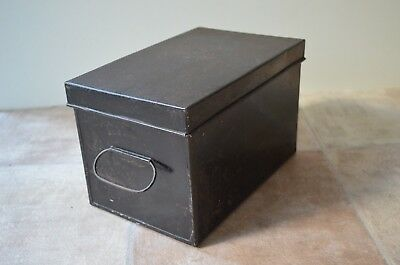 Vintage Metal Document Tin