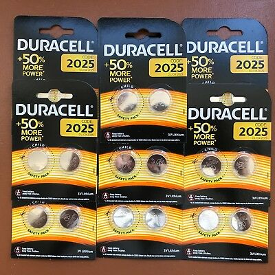 20 x Duracell CR2025 3V Lithium Coin Cell Battery 2025 DL/BR2025 Longest Expiry