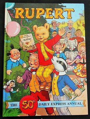 MINT RUPERT THE DAILY EXPRESS ANNUAL 50th ANNIVERSARY ANNUAL 1985, UNCLIPPED