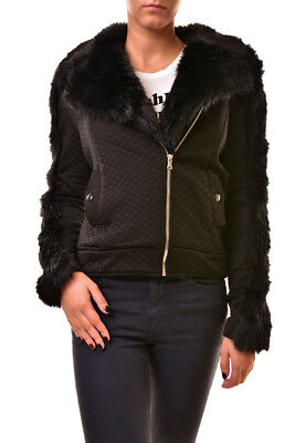 62e29431c4 For Love   Lemons Women s Quilted Furry Jacket Black Size S RRP  233 BCF811