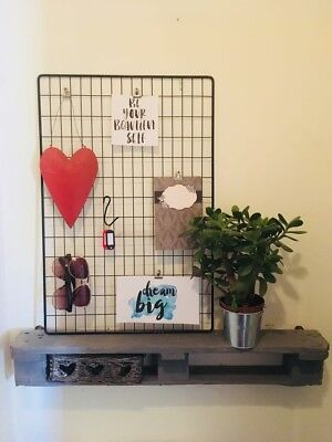 great fit latest on feet at INDUSTRIAL WIRE METAL Grid Hanging Rack Memo Notice Board ...