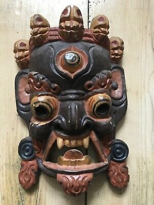 Antique Wooden Tribal Ethnic Mask Chinese African