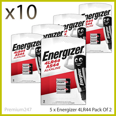 10 x ENERGIZER 4LR44 ALKALINE 6V BATTERY 476A PX28A A544 With Longest Expiry