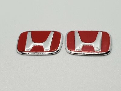 2x HONDA Red Key Fob Sticker Badge Emblem 14mm CIVIC INTERGRA ACCORD JAZZ