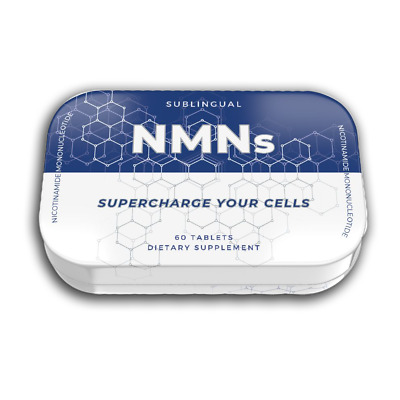 NMN Sublingual 60 Tablets x 125mg from Alivebynature Nicotinamide Mononucleotide