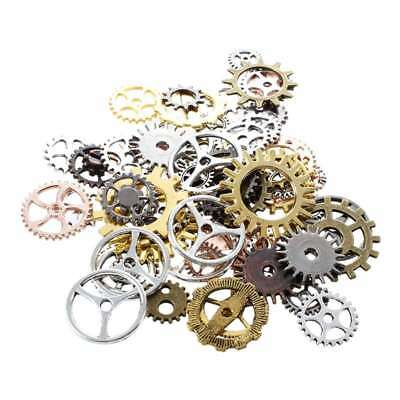 Steampunk DIY Clock Repair Parts Gears Jewelry Crafts Art Cogwheels Wheels K6K5