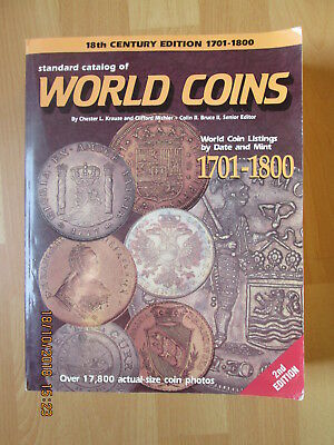 STANDARD CATALOG OF WORLD COINS 18th Century Edition 1701-1800