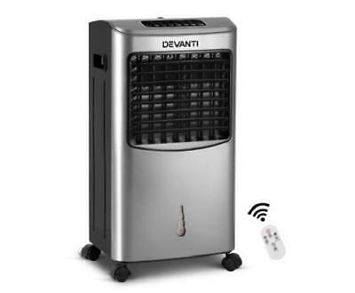 8.5L Portable Ice Crystals Air Evaporative Cooler Fan and Humidifier with Remote
