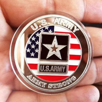 Army Star, U.S. Army ARMY STRONG Design, 1 Troy oz .999 Silver Coin - Military