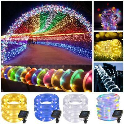 7M 50 LED Solar Power Rope Tube String Fairy light Garden Party Waterproof Lamps