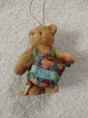 """Cherished Teddies Enesco Bears from the 90's """"I'll Play My Drum For You"""""""