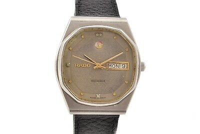 Vintage Rado Voyager Stainless Steel Automatic Midsize Watch 1351