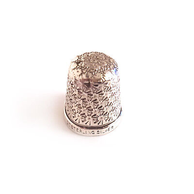 Vintage Sterling Silver Thimble Size 17 - Collector's Piece