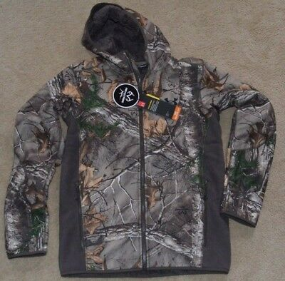 1744fa4a32a2b New Men's Under Armour UA Stealth Hooded Jacket Small 1283119-947 REALTREE  CAMO
