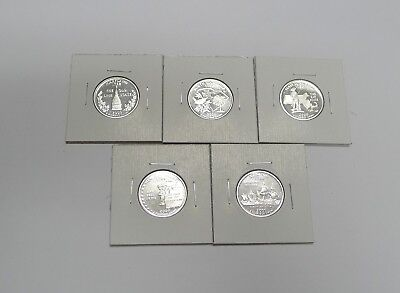 Complete Set 2000-S SILVER Proof State Quarters! 5 Coins!  See Photo!
